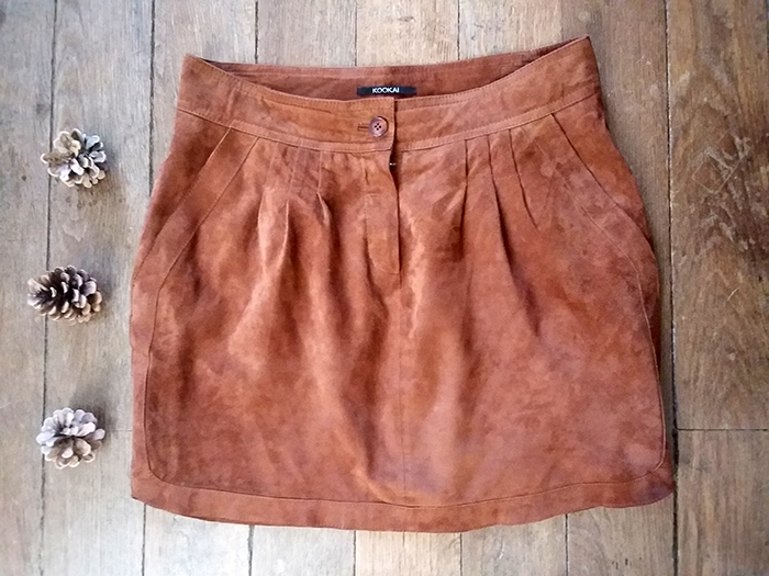 Look • La jupe marron